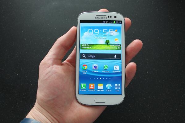 Samsung Galaxy S III in hand