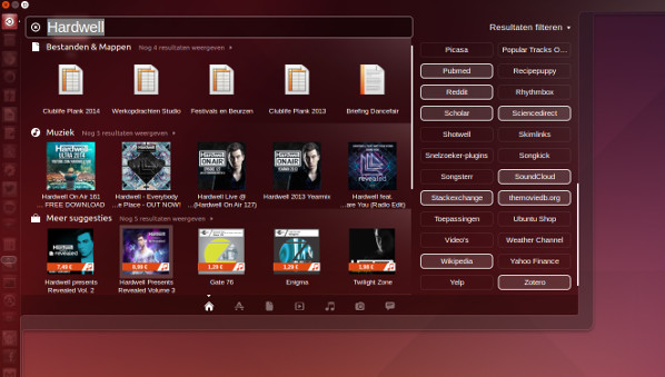 Ubuntu 14.04 LTS - verbeterde Dash