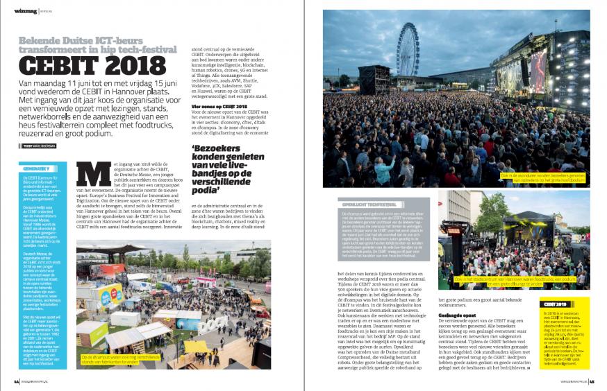 In WINMAG Pro 3 een uitgebreid verslag van de CEBIT 2018 in Hannover