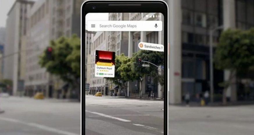Google Maps op smartphone