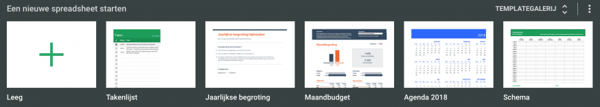Templates Google Spreadsheets