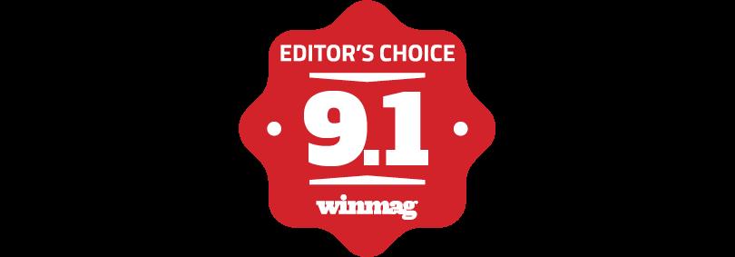 WINMAG Pro Editors Choice Award Logo 9.1