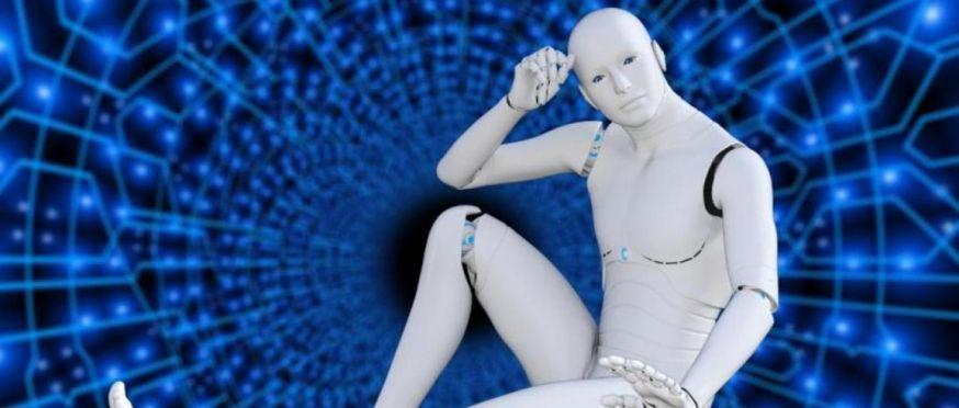 Foto van androïde robot