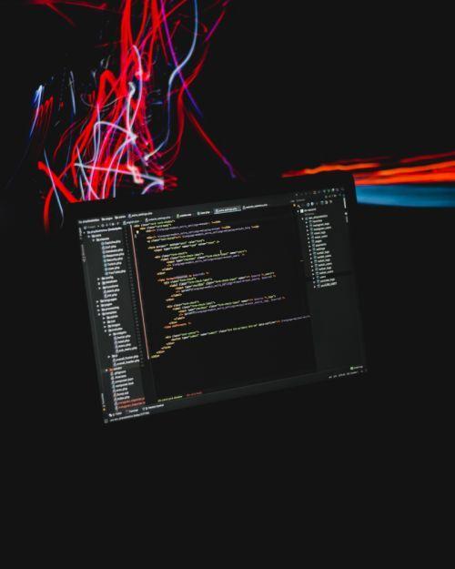 Scherm met code